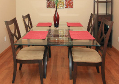 Dining room ready for listing