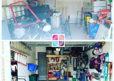 Garage redesigned + professionally organized for ultimate functionality