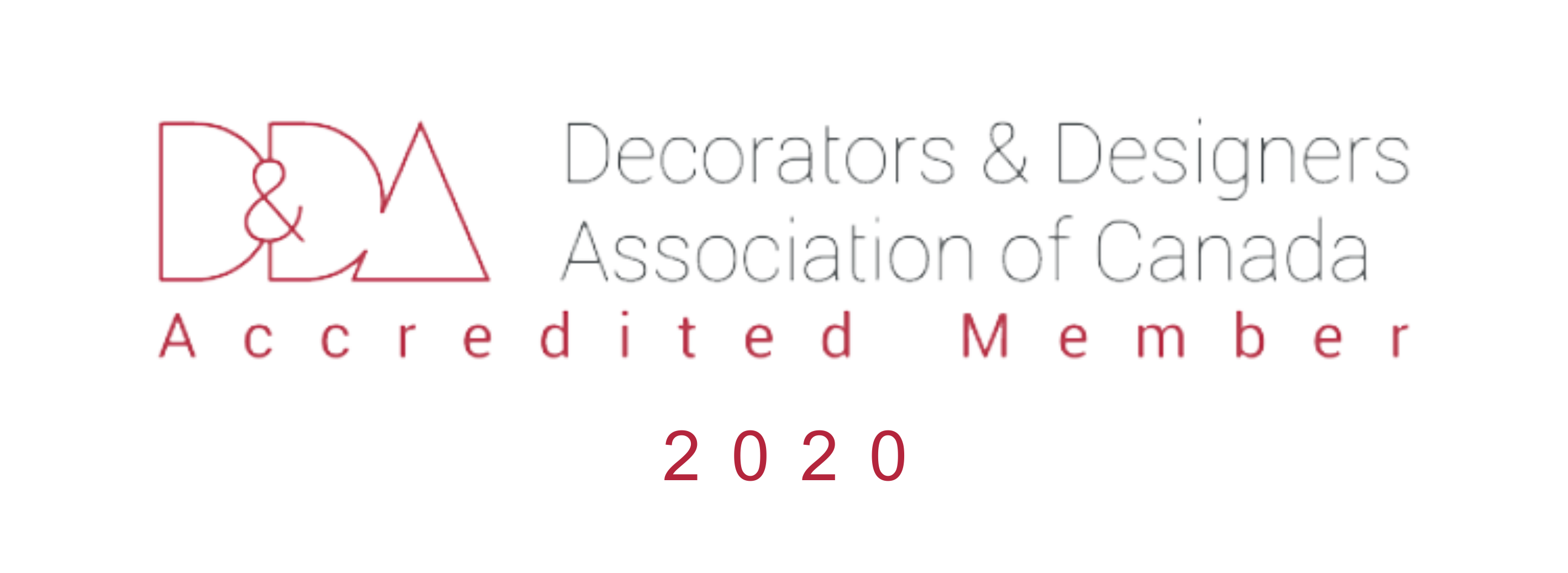 Decorators and Designers Association of Canada logo wide 2020